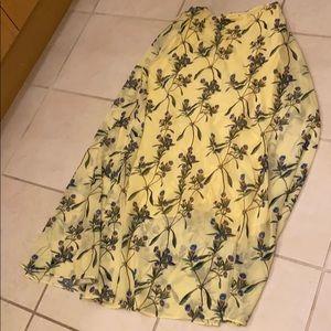 H&M Silky Midi Skirt